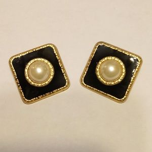 Vintage Gold Statement Earrings